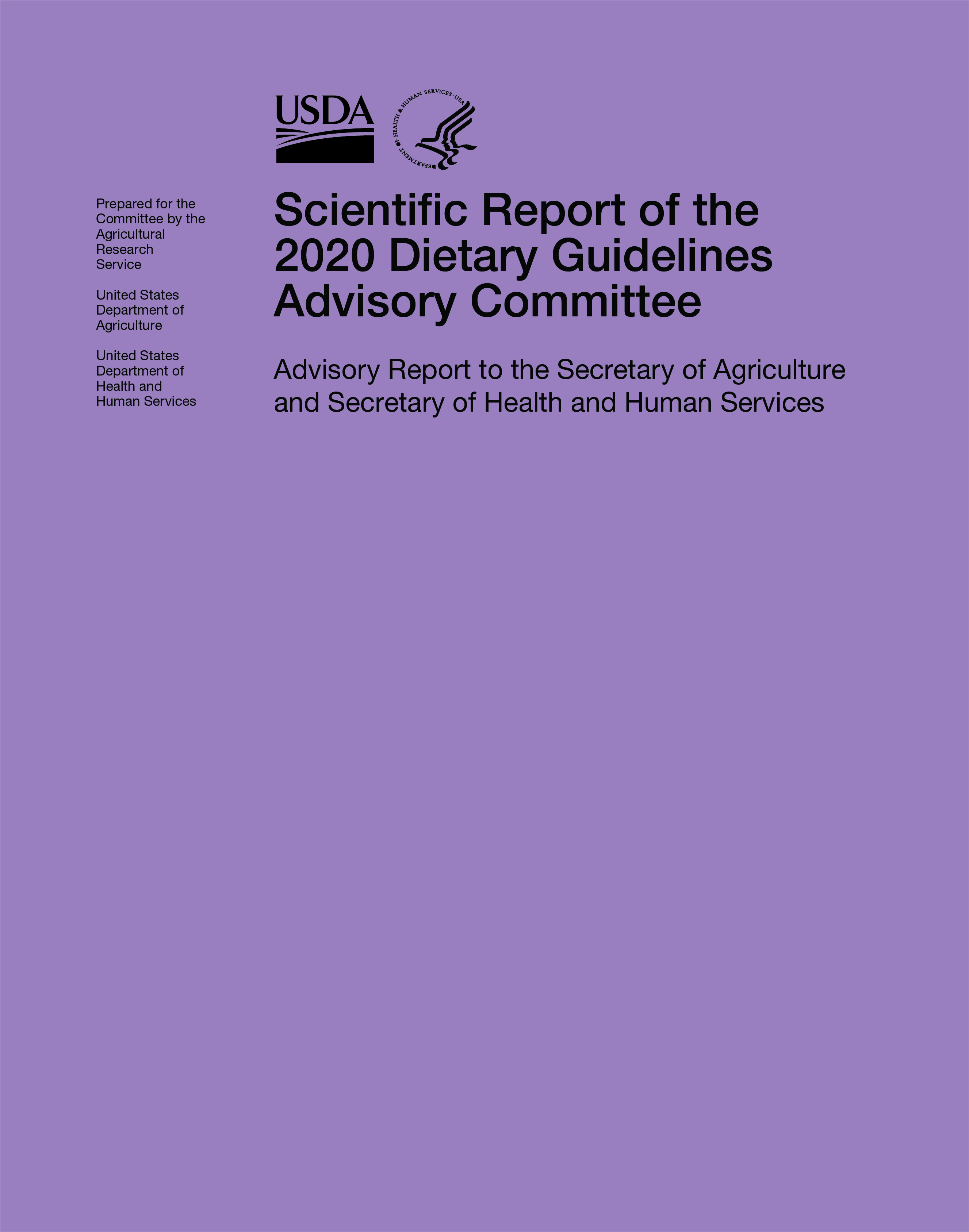 Scientific Report of the 2020 Dietary Guidelines Advisory Committee