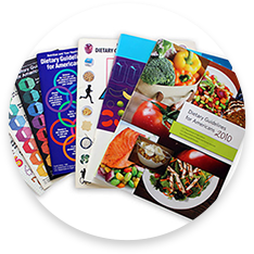 Colorful Brochures of the Dietary Guidelines